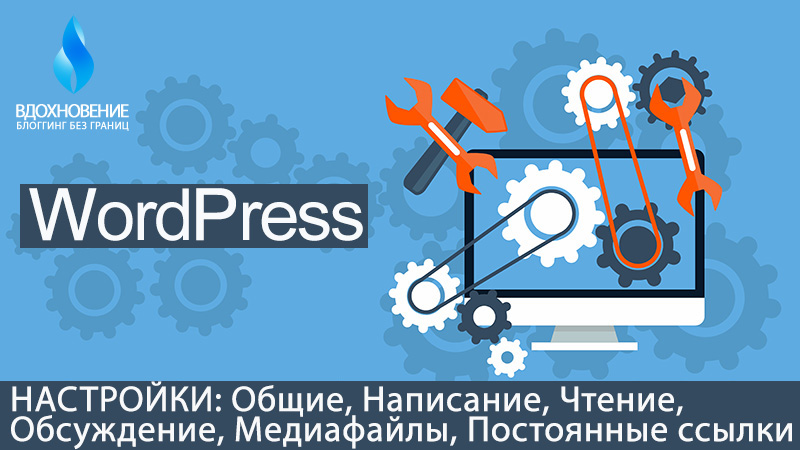 "WordPress. Раздел ""Настройки"""