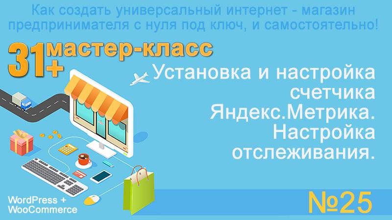 Установка и настройка счетчика Яндекс.Метрика. Настройка отслеживания.